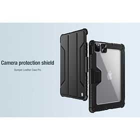 Bao da cao cấp cho iPad Pro 11 (2021) hàng chính hãng Nillkin Bumper Leather có nắp bảo vệ camera