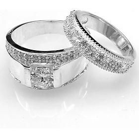 Nhẫn đôi BẠC HIỂU MINH nc539 mình yêu nhau đi_cỡ vừa