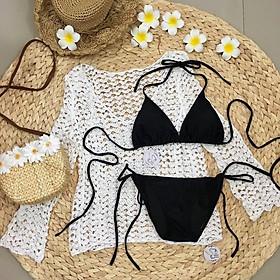 Bikini, Đồ Bơi Đi Biển Nữ Hai Mảnh Áo Tam Giác, Quần Cạp Thấp Quyến Rủ Sexy  Oderi KG10