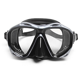Men's Women's Anti-fog Diving Snorkeling Mask Two-window Scuba Diving Mask Swim Goggles Swimming Mask Tempered Glass