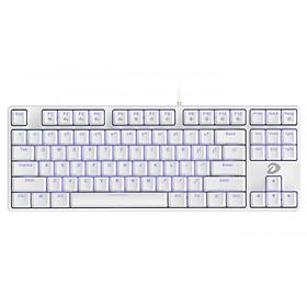 Bàn Phím Cơ Gaming EK87 White (ICE-BLUE LED, Blue/ Brown/ Red D switch) - Hàng Chính Hãng