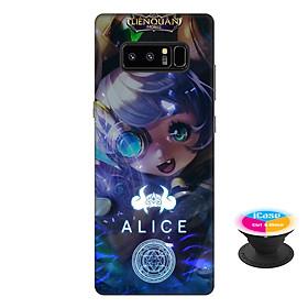 Ốp lưng nhựa dẻo dành cho Samsung Galaxy Note 8 in hình Alice - Tặng Popsocket in logo iCase - Hàng Chính Hãng