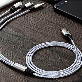 Cáp Sạc USB Type-C 3 Trong 1 Hỗ Trợ Sạc Nhanh