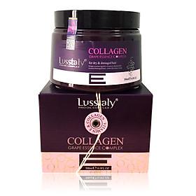 Kem hấp ủ Lusstaly Collagen Grape Essence Complex mask phục hồi siêu mượt tóc cao cấp 500ml