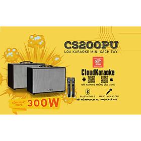 Loa kéo xách tay ACNOS KBEATBOX CS200PU - Bass 2 tấc, công suất 300W - Dàn karaoke di động tiện lợi - Hát karaoke không cần mạng - Kết nối bluetooth 5.0, USB - Thiết kế sang trọng, tiện lợi - Kèm 2 micro không dây UHF cao cấp - Hàng chính hãng