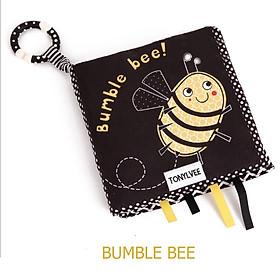 SÁCH VẢI KÍCH THÍCH THỊ GIÁC ĐEN TRẮNG BUMBLE BEE