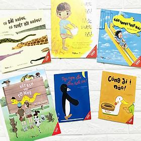 Sách bộ Ehon 6 cuốn - Bé 0-3 tuổi - Có dài không có tuyệt vời không + Mặc được rồi + Cầu trượt thật dài + Kết bạn với tớ nhé + Ngủ ngon nhé chim cánh cụt + Cùng đi ị nào