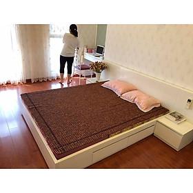 Chiếu hạt gỗ hương 1,6m x2m hạt 15ly - Nệm giường mát xa , Tấm trải giường dùng cho điều hòa .Đệm gấp đa năng tiện ích