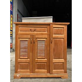Tủ đựng giày dép gỗ thông cao cấp 1m2 màu nâu