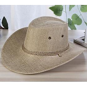 Men Summer Cool Western Cowboy Hat Outdoor Wide Brim Hat