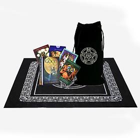 Combo Bộ Bài Bói The Good Tarot Cao Cấp và Túi Nhung Đựng Tarot và Khăn Trải Bàn Tarot