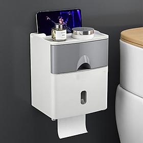 Hộp đựng giấy nhà vệ sinh kèm kệ để đồ thông minh