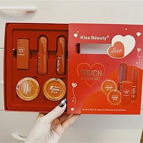 Bộ Trang Điểm Kiss Beauty Đỏ 5 Sản Phẩm Touch Your Heart
