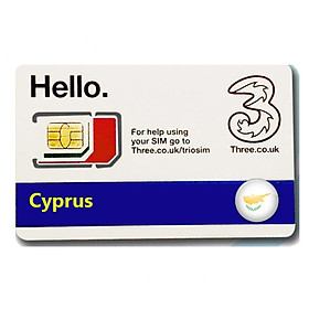 Sim du lịch Cyprus 4g tốc độ cao