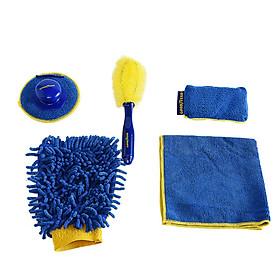 Bộ combo 5 món dụng cụ chăm sóc vệ sinh cọ rửa ô tô, xe hơi nhãn hiệu Goodyear GY-2878
