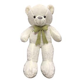 Gấu Teddy Nơ Họa Tiết Cây Bông 3 Lá Ichigo (85cm) - Nơ Màu Ngẫu Nhiên