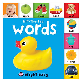 Bright Baby: Words (Lift-the-tab) (Board book)
