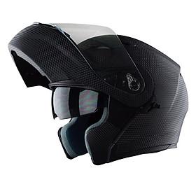 Mũ Bảo Hiểm Fullface Lật Cằm 2 Kính Royal M179 - Vân Carbon
