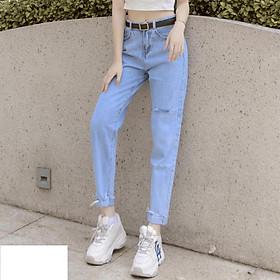 Quần jean nữ lưng cao Julido, chất jean cotton co dãn NHẸ FORM BAGGY tôn dáng phụ nữ eo thon mẫu B149N