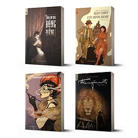 Combo 4 cuốn trinh thám đen Cornell Woolrich: Theo em vào bóng đêm + Đêm ngàn mắt + Người đàn bà trong đêm + Hạn chót lúc bình minh