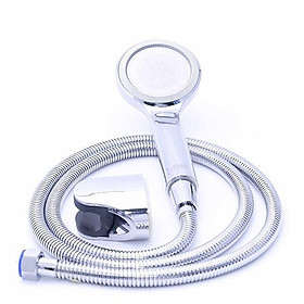 Bộ tay dây sen siêu tăng áp Eurolife EL-105SH (Trắng bạc)