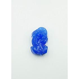 Mặt dây Tỳ Hưu đá Cẩm Thạch xanh dương Tài Lộc - mạng Thủy (Nữ)