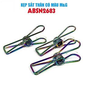 Kẹp sắt hình M&G ABSN2683 dạng lớn thân sắt màu lam