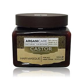 Mặt nạ ủ tóc Arganicare Castor hair masque bóng mượt phục hồi ngăn rụng Israel 500ml