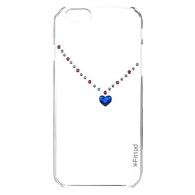Original X-Fitted Luxury Protective Clear Back Case Plate Bumper Phone Shell Hard Cover with Rhinestones Plating Design for iPhone 6 Plus 6S Plus 5.5inch pc clear CN