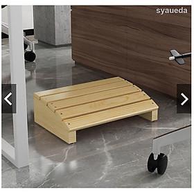 Ghế gỗ kê chân bàn ngồi làm việc thoải mái văn phòng - bàn học - bàn làm việc