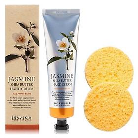 Combo 1 dưỡng tay thảo dược hương hoa trị khô nẻ bong tróc da Beauskin Hàn quốc ( 100ml) + 2 bông rửa mặt tắm đa năng
