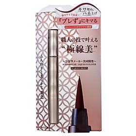 Bút Kẻ Viền Mắt Chống Nước Nhật Bản Koji Kiwamifude Liquid Eyeliner Maroon Brown, Màu Nâu Hạt Dẻ, Bền Màu, Lâu Trôi