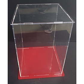 Hộp mica 12x12x32cm trưng bày chống bụi lắp ghép