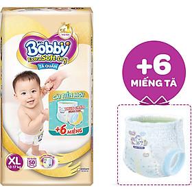 Tã Quần Cao Cấp Bobby Extra Soft Dry XL50 (50 Miếng) - Tặng 6 Miếng Trong Gói