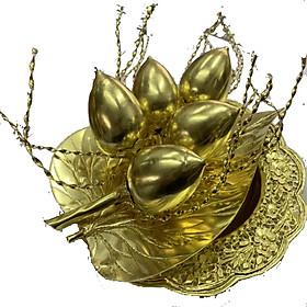 Bộ đĩa trầu cau bằng đồng vàng 18cm