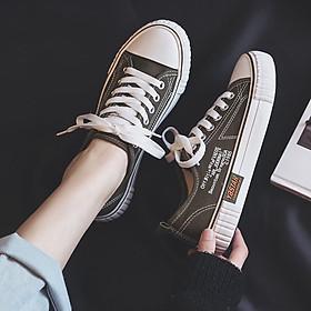 Giày vải canvas phong cách Hàn Quốc thời trang cho nữ