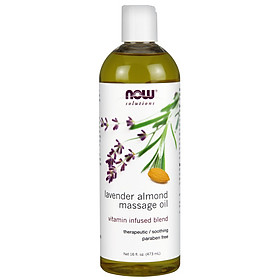 Lavender Almond Massage Oil | Tinh Dầu Massage chiết xuất từu Hạt Dẻ - Hương hoa oải hương (473 ml)