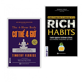 Combo 2 cuốn sách: Cơ thể 4 giờ + Rich Habits - Thói Quen Thành Công Của Những Triệu Phú Tự Thân ( tặng kèm iring siêu dễ thương như hình )