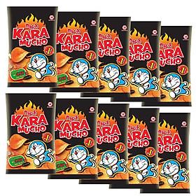 Lốc 10 gói Snack khoai tây Karamucho vị cay đặc biệt 26gr