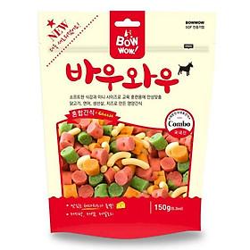 Snack Hỗn Hợp Cho Chó Bowwow MX-MS-150 (150g)