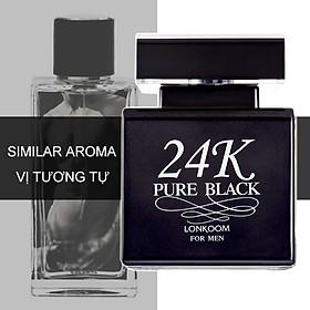 Nước Hoa LONKOOM PARFUM 24K perfume Pure Black for women EDP Aromatic-Fougere Fragrance 100ml