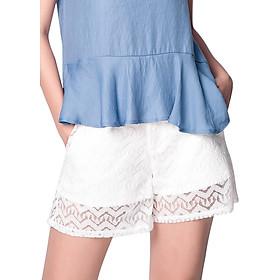 Quần Shorts Nữ Ainosofia WSP17SS014-G7 - Trắng