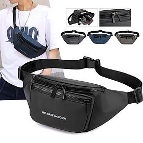 Túi đeo chéo nam unisex chống nước đeo hông đeo ngực tiện lợi MIBAG37