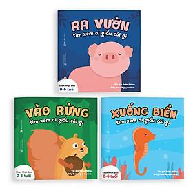 Sách Ehon - Combo 3 cuốn Ai giấu cái gì đó - Dành cho trẻ từ 0 - 6 tuổi