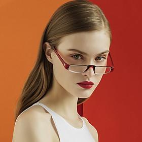 Z-ZOOM British brand fashion design half frame reading glasses unisex 11 series red 250 degrees