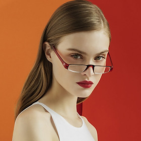 Z-ZOOM British brand fashion design half frame reading glasses unisex 11 series red 250 degrees