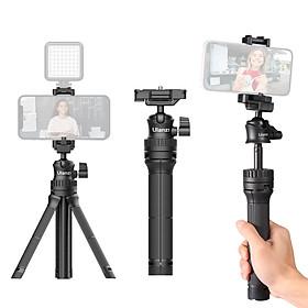 Ulanzi MT-34 Portable Extendable Selfie Stick Tripod Handheld Photography Bracket Desktop Tripod Stand with 1/4 Inch