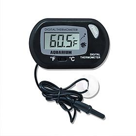 Nhiệt kế điện tử mini đo nhiệt độ bể cá ( Tặng kèm 01 miếng thép đa năng )