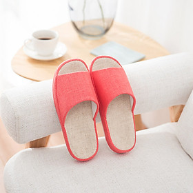 Hommy Natural Series Lightweight Home Comfortable Cotton Slippers Women's Watermelon Red M HM2044