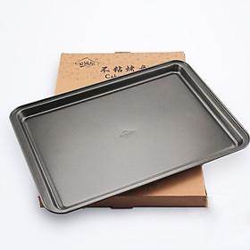Khay chống dính nướng bánh hình chữ nhật 37x26x2